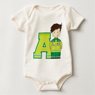 A ist für Krankenwagen-Mann Baby Strampler