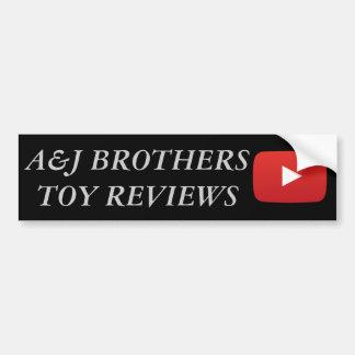 a&j Brüder Youtube Autoaufkleber
