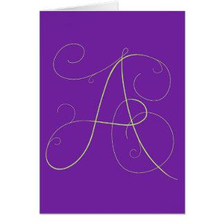 """A "" lluring notecard Karte"