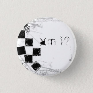 A.M., I? Knopf Runder Button 2,5 Cm