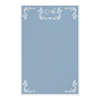 A:: Monogramm ein griechisches Göttin-Briefpapier Individuelles Druckpapier