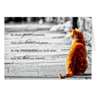 A-PAL - Orange Tabby-Katzen-Haustier-Beileid Grußkarte