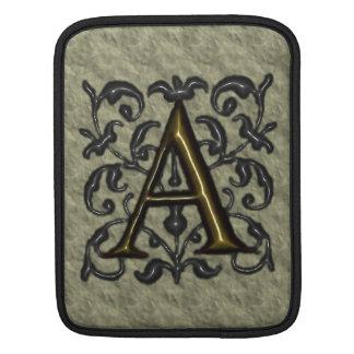 A - Prägeartiges Vintages Monogramm (golden) Sleeve Für iPads