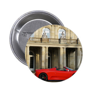 A red sports car from Maranello Italy Runder Button 5,1 Cm