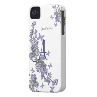 A - Reizendes blaues Bell u. Schmetterling iPhone iPhone 4 Case-Mate Hülle