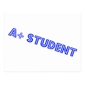 A+ Student Postkarte