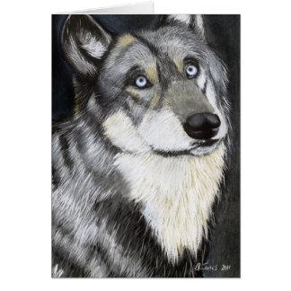 A Wolfs die Starren und malt durch Ben Jones Karte