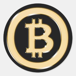 AA568-Bitcoin-Made-of-Gold-symbol Runder Aufkleber