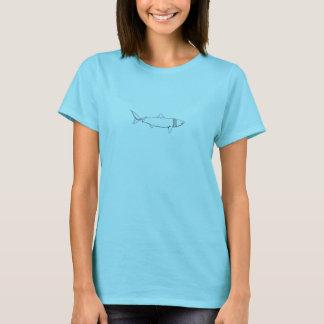 Aalender Haifisch-Logo (Linie Kunst) T-Shirt
