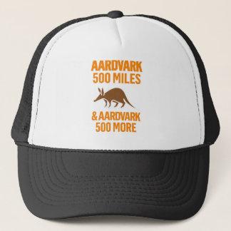 Aardvark 500 Meilen lustiges Wortspiel Truckerkappe