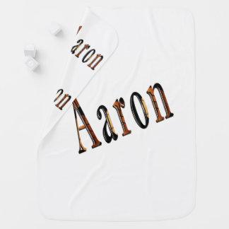 Aaron-Jungen-Namenslogo, Kinderwagendecke