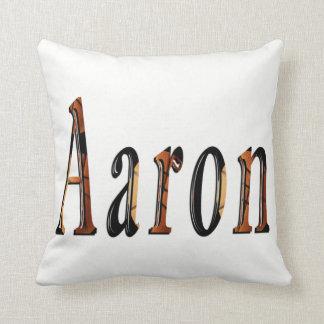 Aaron-Jungen-Namenslogo, Kissen