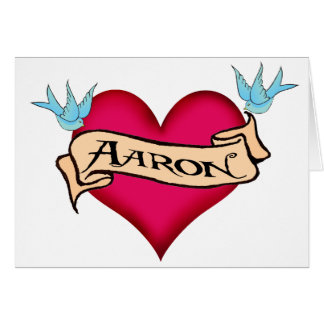 Aaron - kundenspezifische Herz-Tätowierungs-T - Karte