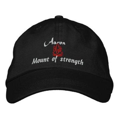 Aaron-Name mit hebräischem Bedeutungs-Schwarzem Besticktes Baseballcap