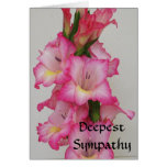 AB, tiefstes Beileids-Blumenkarte