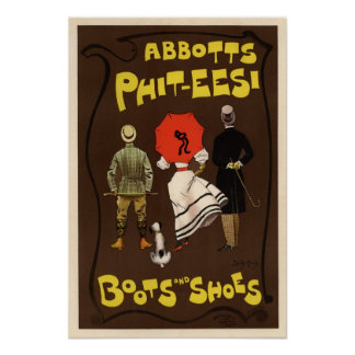 Abbotts Phit-Eesi Stiefel und Schuhe Plakatdruck