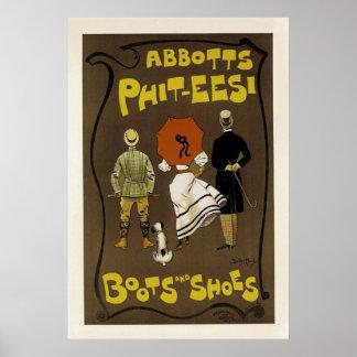 Abbotts Phit-Eesi ~ Stiefel und Schuhe Poster