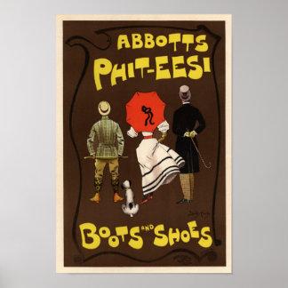 Abbotts Phit-Eesi Stiefel und Schuhe Posterdrucke