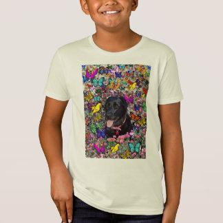 Abby in den Schmetterlingen - schwarzer T-Shirt