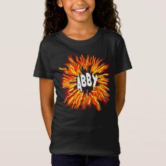 Abby Namen-Stern auf Feuer T-Shirt