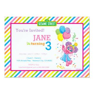 Abby Striped Geburtstag 12,7 X 17,8 Cm Einladungskarte