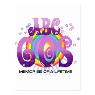ABC-60er Radio Postkarte