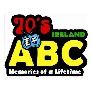 ABC-70er Irland-Radio Postkarte