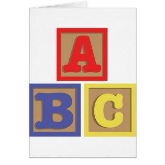 ABC-Blöcke Karte