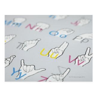 ABC der Gebärdensprache Postkarte