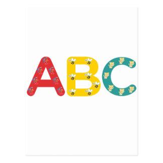 ABC durch PaddleDuck Postkarte