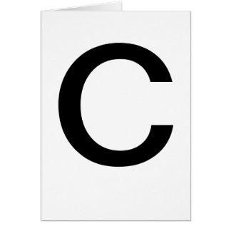 ABC-Karten C für das Lernen ABCs CricketDiane von Karte