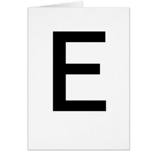 ABC-Karten E für das Lernen ABCs CricketDiane von Karte