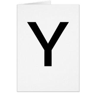 ABC-Karten Y für das Lernen ABCs CricketDiane von Karte