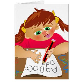 ABC-Mädchen Karte