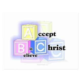 ABC nehmen an, glauben an Christus-Entwurf Postkarte