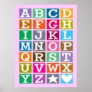 ABC-Plakat (Rosa)