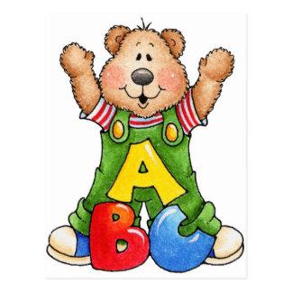 ABC-Teddybär Postkarte