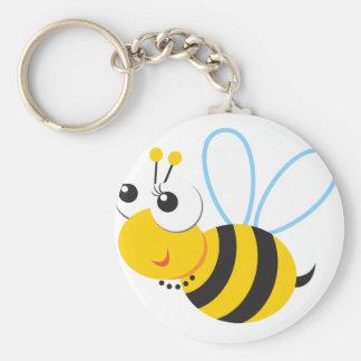 ABC-Tier-Betty-Biene Standard Runder Schlüsselanhänger