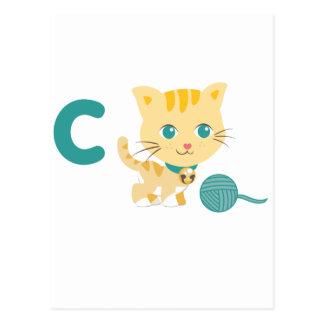 ABC-Tiere - Carrie Katze Postkarte