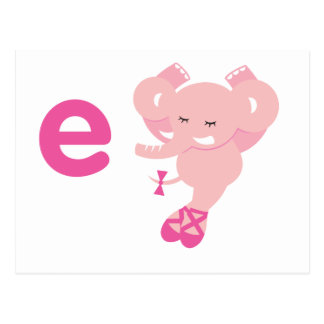 ABC-Tiere - Ellie Elefant Postkarte