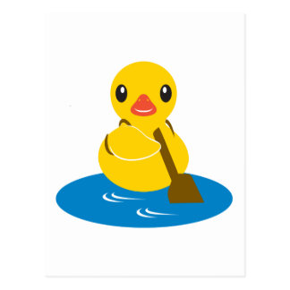 ABC-Tiere - Paddel-Ente Postkarte
