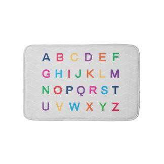 ABCs Alphabet, das bunte ABC-Buchstaben lernt Badematte