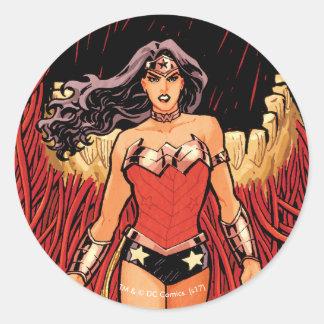 Abdeckung #23 des Wunder-Frauen-neue Comic-52 Runder Aufkleber