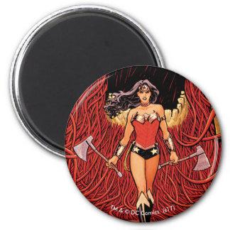 Abdeckung #23 des Wunder-Frauen-neue Comic-52 Runder Magnet 5,7 Cm