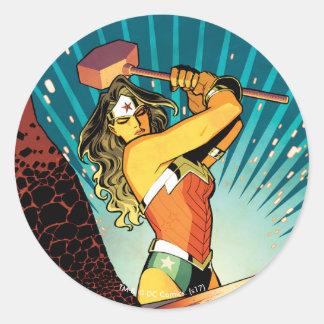 Abdeckung #7 des Wunder-Frauen-neue Comic-52 Runder Aufkleber