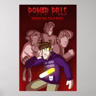 Abdeckung des Power-Pillen-Buch-1 Poster