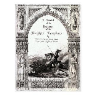 Abdeckung 'einer Skizze der Geschichte die Ritter Postkarte
