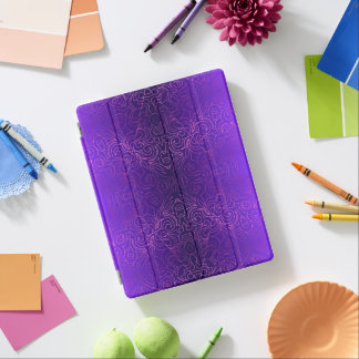 Abdeckung iPad 2/3/4 abstrakte mit Blumendamaste iPad Hülle