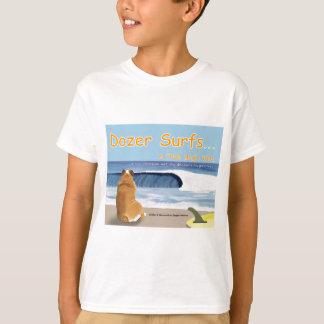 Abdeckung T - Bulldozer surft… die Geschichte T-Shirt