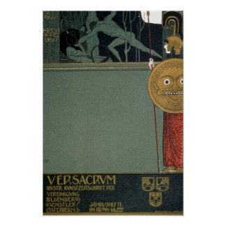 Abdeckung von Ver Sacrum die Zeitschrift von Plakat
